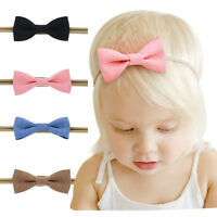 4 PCS Kids Girls Baby Headband Toddler Bowknot Hair Band Accessories Headwear