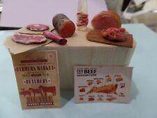Butcher shop Meats Dollhouse Miniatures 1:12 Gailslittlestuff