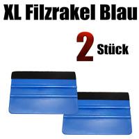 XL   Filzrakel Blau 2 Stück   - Autofolien - Vollfolierung - wandtattoo kleben