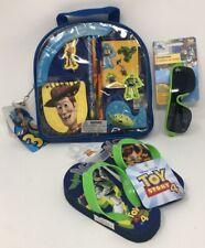 Disney Pixar Toy Story School Set, Flip-Flop (Size 7/8), and Sunglasses Bundle