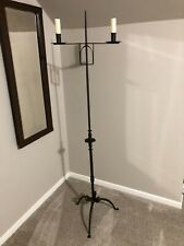 Antique Floor Candelabra Early likely mid 1800's - hand forged Aafa Unusual