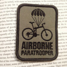 Airborne Paratrooper Bike MORALE BADGE US ARMY 3D TACTICAL MILITARY PATCH