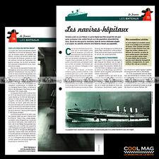 #clf105.010-11 ★ LES NAVIRES-HOPITAUX (PAQUEBOT HOPITAL) WW1 WW2 ★ Fiche Marine