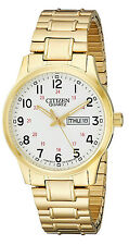 Citizen BF0612-95A Men's Gold Tone Expansion Band Easy Reader Day Date Watch