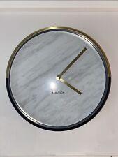 Karlsson Marble Delight White Wall Clock (Black & Gold) 30cm Diameter