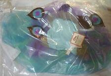NWT POTTERY BARN KIDS PEACOCK TUTU FAIRY HALLOWEEN COSTUME 3T & BLUE TREAT BAG