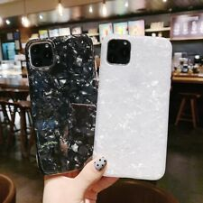 Marble Shell Silicone Rubber Cover Case for iPhone 11 Pro Max XR 6 7 8 X SE 2020