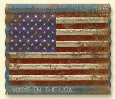 """American Flag Distressed Corrugated Metal Personalized Sign~BIG 29"""" x 37.5""""!"""