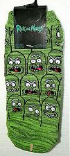 1 Pair Rick & Morty Pickle Adult Swim Cartoon New Tags Socks Fits 4-10 '19 Green
