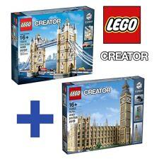 LEGO 10253 + 10214 CREATOR EXPERT COLLEZIONISTI BIG BEN + TOWER BRIDGE NUOVI