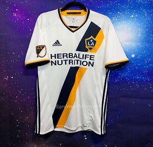 Adidas LA Galaxy Primary MLS Jersey Sz M Athletic Soccer Shirt White