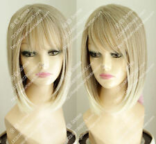 FIXSF811 charming new style short blonde straight cosplay health Hair wig Wigs