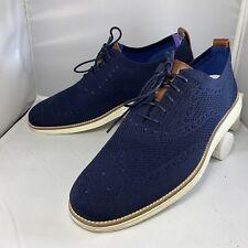 Cole Haan ØriginalGrand Wingtip Oxford Stitchlite Size 10 C27960 Navy Blue