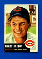1953 Topps Baseball # 45 GRADY HATTON EX/EX-MT CINCINNATI REDS