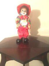 I Am Musical vintage porcelain boy clown doll 12 inches tall New
