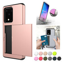 Shockproof Card Wallet Case For Samsung Galaxy S20 Plus/Ultra Note 10 Plus Cover