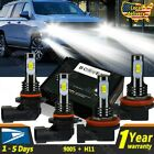 4x 45w H11 9005 Led Headlight Bulb High Low Beam Light For Chevy Tahoe 2015-2019