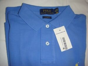 POLO BY RALPH LAUREN POLO SHIRT GRNWICH BLUE (Small)