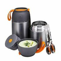 Food Flasks 2 Pack 15 oz+ 24 oz Insulated Food Container Thermos Lunch Box