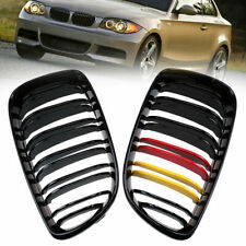 1 Pair Front Left & Right Kidney Grilles Grills for BMW 1-Series E81 E82 E87 E88