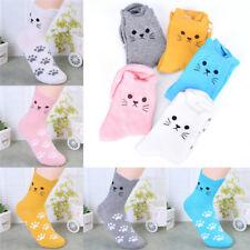 Candy Color Cat Footprints Socks Cute Women Cotton Socks Warm Women's CuteNTP