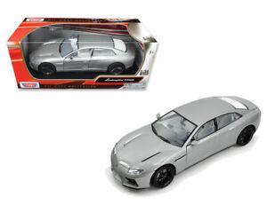 1:24 Scale Lamborghini Estoque Silver Motor Max Diecast Model Car