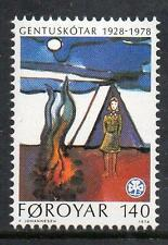 Faroe Islands MNH 1978 The 50th Anniversary of the Y.W.C.A. Girl Scouts