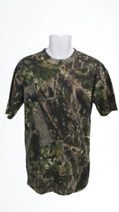 New Camouflage Youth Size M Medium Camo Leafs Tree Hunting Cabela's T-Shirt