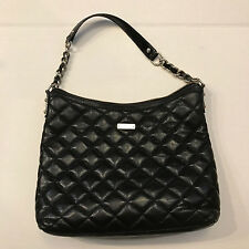 """Authentic kate spade Gold Coast """"Serena"""" Quilted Leather Handbag, Black"""