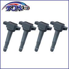 BRAND NEW SET OF 4 IGNITION COIL PACKS FOR HONDA ACURA 30520-PMA-007