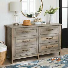 NEW Better Homes & Gardens Modern Farmhouse 6-Drawer Dresser, Rustic Gray Finish