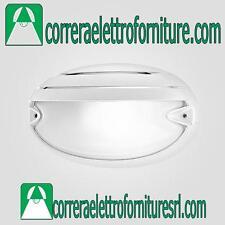 Plafoniera parete esterno design PRISMA CHIP OVALE 25 GRILL bianco E27 005706
