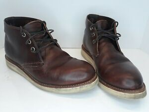RED WING Work Chukka Boots 3141 Briar Oil-Slick Leather Men's 8.5 D USA