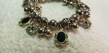 Women Gypsy multi colored Bracelet Bohemia Silver charm Pendant Bangle