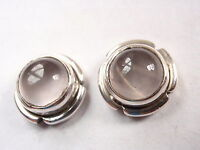 Rose Quartz with Grooved Accents 925 Sterling Silver Round Stud Earrings