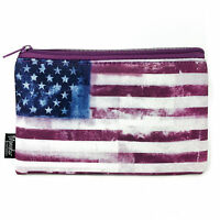 Monster Stationery - Neoprene Pencil Case - Distressed Flag - Stars and Stripes