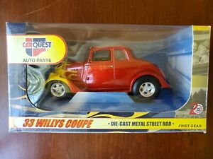 First Gear CarQuest 1933 Willys Coupe Street Rod - 1:25 Scale Die-Cast Model Car