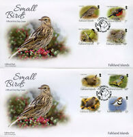 Falkland Islands 2017 FDC Small Birds Definitives 12v Set on 3 Covers Stamps