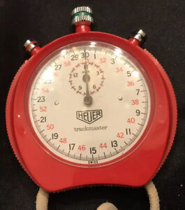 Vintage Tag Heuer Trackmaster Red Stopwatch- Working
