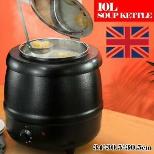 10L Food Soup Warmer Commercial Kettle Stainless Steel Electric Jug Stew Cooking