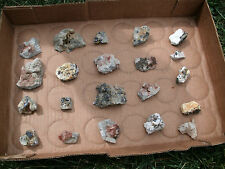 Lot Of 21 Barite Sphalerite, Dolomite, and Galena From Missouri