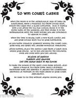 To Win Court Cases Spell Wicca Book of Shadows Page on Parchment