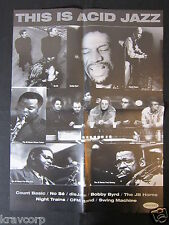 COUNT BASIC/JB HORNS—1995 PROMOTIONAL POSTER—'THIS IS ACID JAZZ'