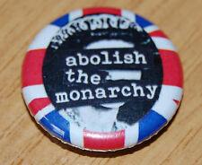 """ABOLISH THE MONARCHY"" 25MM / 1 INCH BUTTON BADGE ANTI-ROYALTY PUNK ANARCHY"