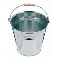 10L HEAVY DUTY GALVANISED STEEL METAL BUCKET WATER COAL FIRE w/ HANDLE 12 LITRE