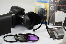 67mm Flower Hood + Adapter Ring + 3 Filters For Nikon Coolpix P900  + Bundle 900