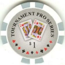 5 pc 5 colors Tournament Pro Series poker chips samples set #22