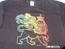 RASTA REGGAE DREAD IRIE BLACK LION OF JUDAH TSHIRT XL