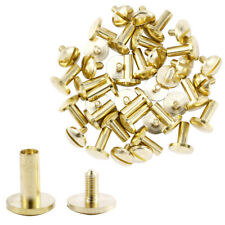 100PCS Chicago Screws Metal Posts Nail Rivet Button Leather Craft Gold 5 Size