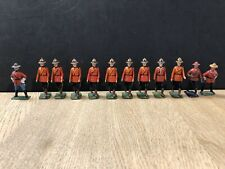 Britains & Others: Repainted Canadian Mountees On Foot. Post War